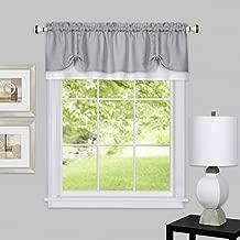"Achim Home Furnishings, Grey/White DRVL14GW12 Darcy Window Curtain Valance, 58"" x 14"""