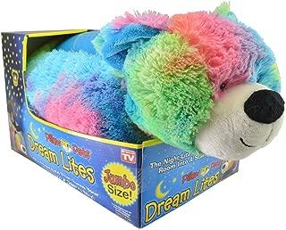 Pillow Pet Dream Lites Jumbo Rainbow Peaceful Bear