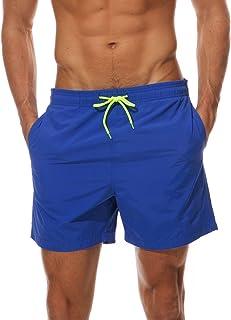 Arcweg Men's Swim Trunks Quick Dry Mesh Lining Swimming Shorts Boys Beach Shorts Board Shorts Swimwear Surf Shorts with Dr...