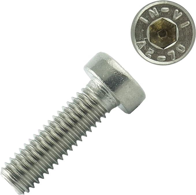 Zylinderschrauben mit Innensechskant M10 x 20 mm Gewindeschrauben 20 St/ück - Zylinderkopf Schrauben ISO 4762 Eisenwaren2000 Edelstahl A2 V2A- rostfrei DIN 912