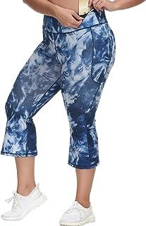Hanna Nikole Bootcut Yoga Pants High Waist Workout Leggings for Women Plus Size