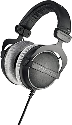 beyerdynamic DT 770 PRO 80 Ohm Over-Ear Studio Headphones in black. Enclosed design, wired for professional recording and monitoring