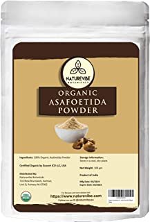 Naturevibe Botanicals Organic Asafetida Powder 100gm (Hing, Asafoetida Ground) 3.53oz | Non-GMO and Gluten Free | Indian Seasoning | Adds Aroma and Flavor