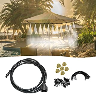 Staright 20FT Misting Cooling System Outdoor Misting Line Cooling Watering Sprayer Kit DIY Saving Water Misting Equipment ...