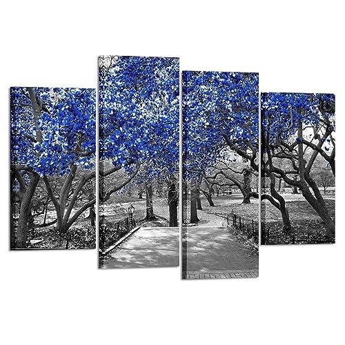 Blue And Black Canvas Art Wall Decor Amazon Com