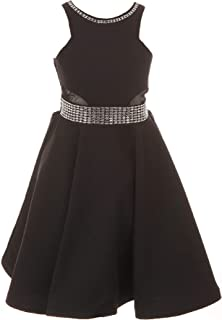 e27a342f Cinderella Couture Little Girls Black Studs Fitted Flower Girl Dress 4-6