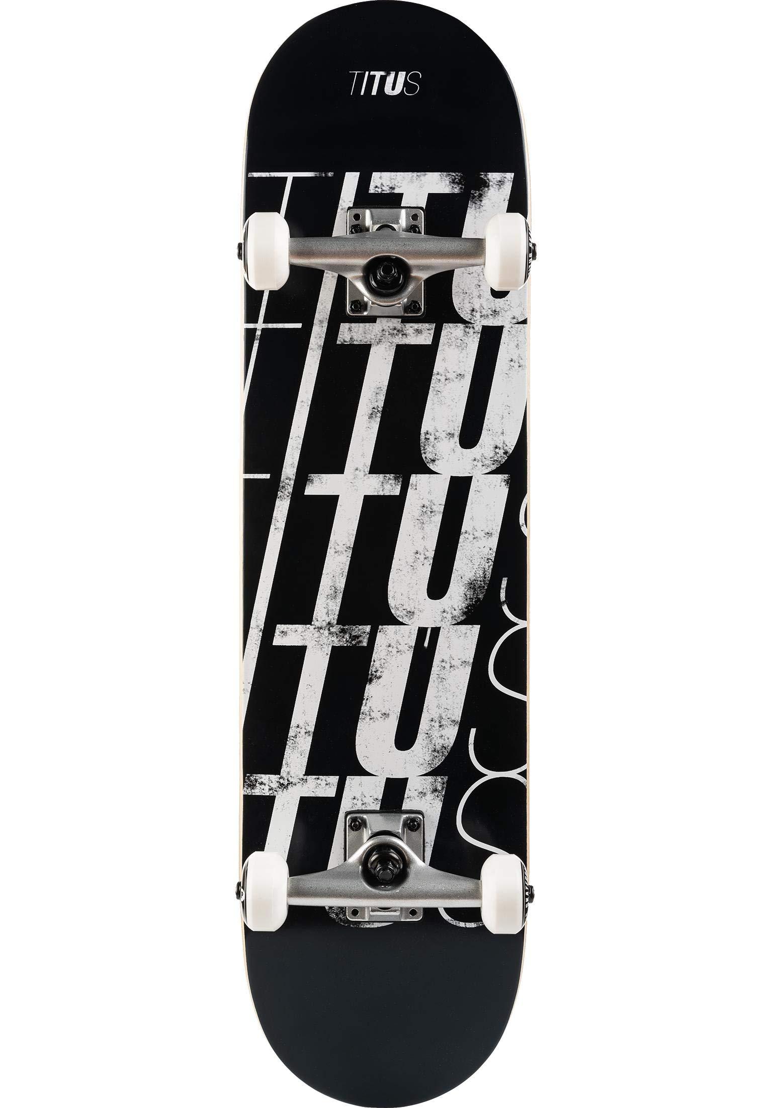 M/ädchen und Junge Anf/änger Skate Erwachsene Komplett Board 7 Schichten Ahornholz Profis TITUS Skateboards-Complete Grizzly T-Fiber Pro Assembled 7.75 Skateboard f/ür Jugendliche Black-Greay
