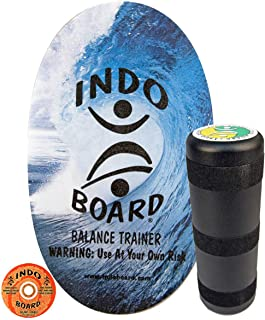 INDO BOARD Original Balance Board for Fun, Challenging Fitness and Sports Training. Comes with 30