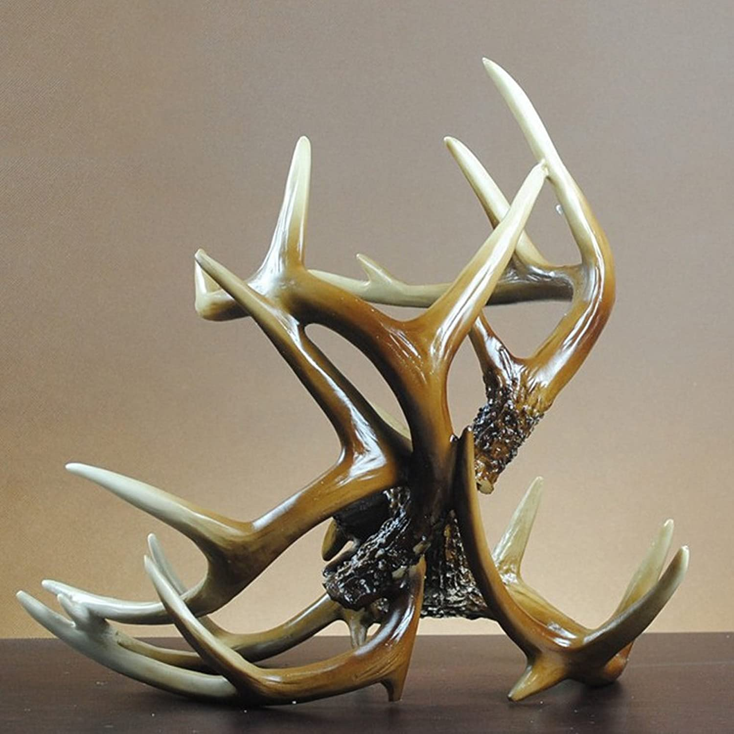 Resin Crafts Wine Rack Living Room Bar Bedroom Decoration Continental Home Decoration Antler Wine Cabinet