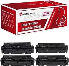 Awesometoner Compatible NO Chip Toner Cartridge Replacement for HP CF414A W2020A W2021A W2022A W2023A use with Color Laserjet Pro M454, Pro MFP M479 Series (Black, Cyan, Magenta, Yellow, 4-Pack)