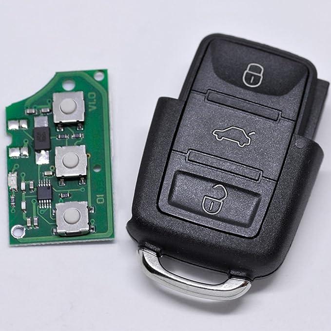 Auto Schlüssel Funk Fernbedienung 1x Gehäuse 1x 433 9 Mhz Sender Sendeeinheit 1j0959753ct 1x Batterie