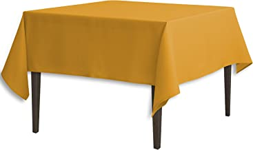 LinenTablecloth Square Polyester Tablecloth, 70-Inch, Gold