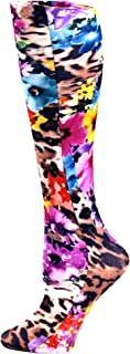 Celeste Stein Therapeutic Compression Socks, Leopard Flowers Moderate 15-20 mmHg