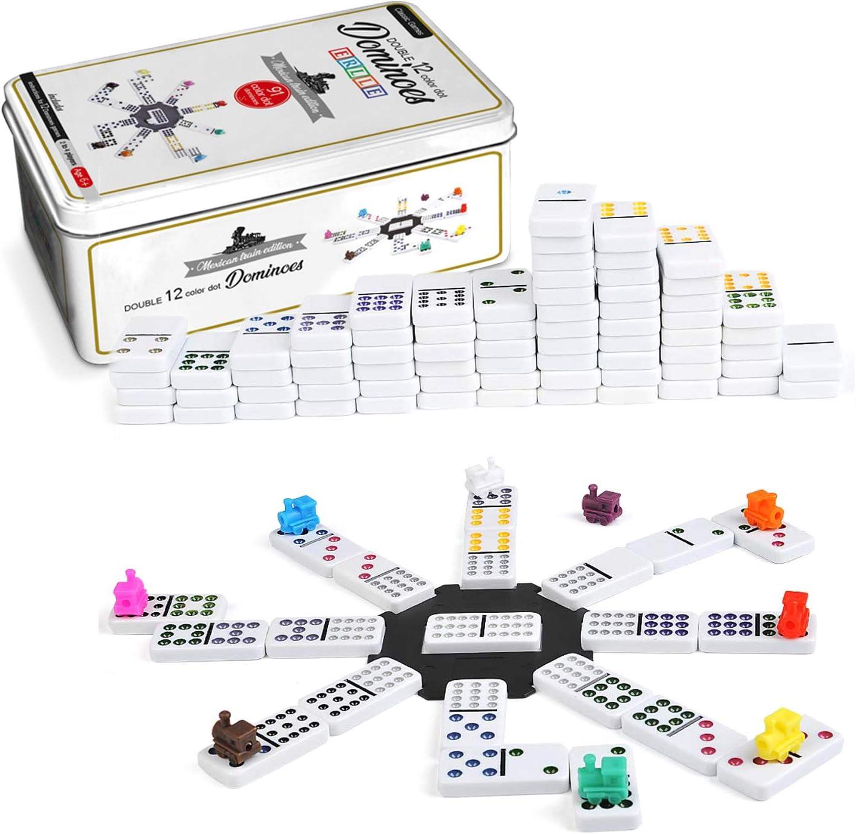 Dominos set Max 76% OFF game. Premium classic color double 91 twelve Import pieces