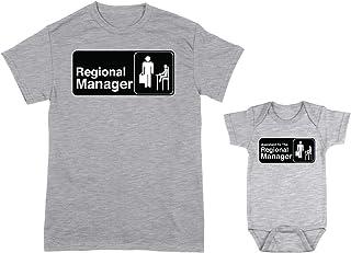 HAASE UNLIMITED Regional Manager/Assistant 2-Pack Bodysuit & Men's T-Shirt