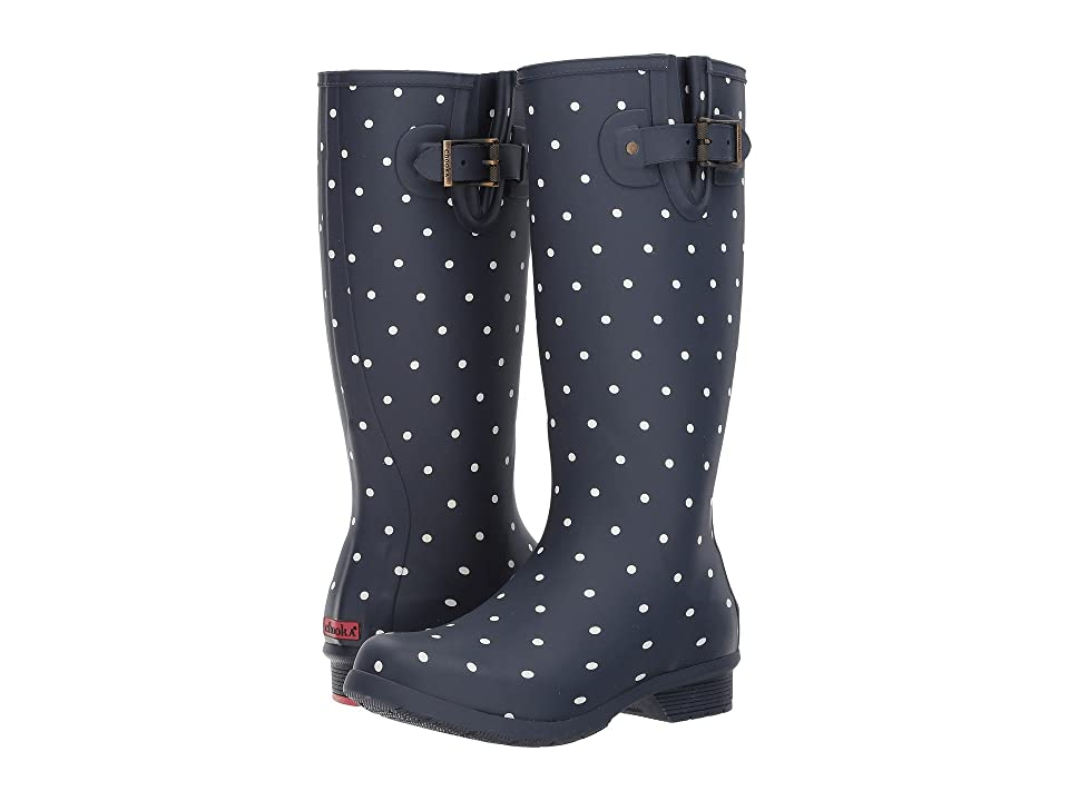Chooka Dot Blanc Tall Boot (Navy) Women
