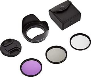 Lens Cap with Hood and 58 mm UV CPL FLD Filter Set