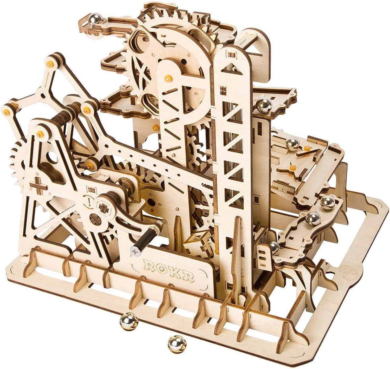 LSQR D003 3D DIY Handwerk Holz Puzzle bausteine mechanische übertragung Spielzeug achterbahn Kinder umweltfreundliche Geschenk mdchen & Jungen Geburtstag und Urlaub Geschenk