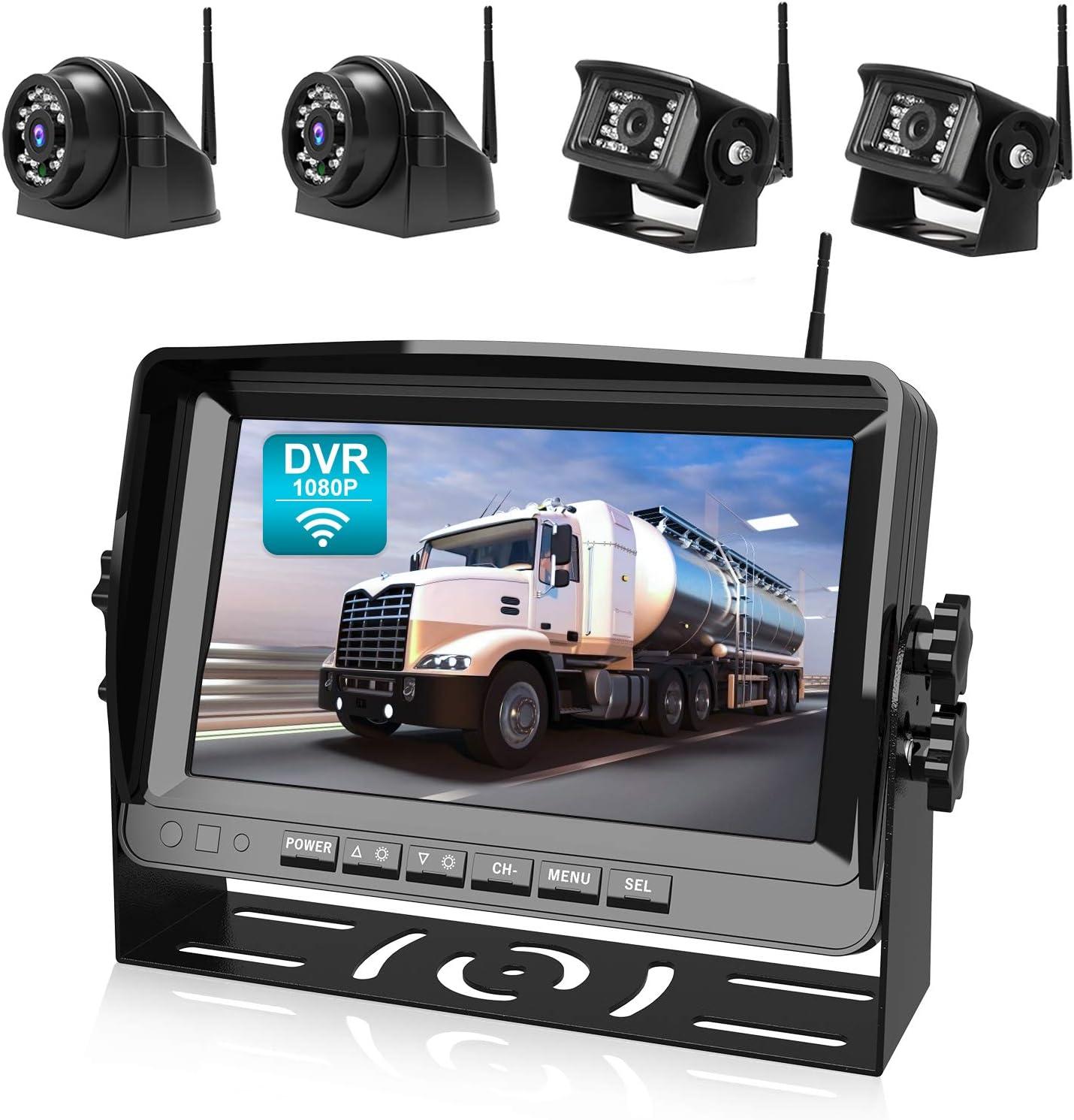 Fookoo HD 1080P Wireless Backup Camera System, 9