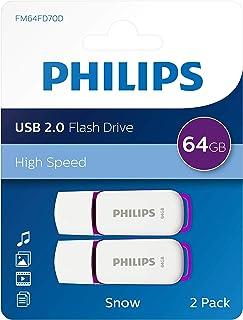 Philips USB Flash Drive Snow Edition 64 Go, USB 2.0, 2 Paquets