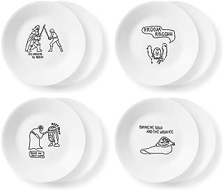 "Corelle Disney Star Wars Doodles "" Appetizer Plates, 8 Pack"