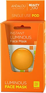 Andalou Naturals Instant Luminous Turmeric and Gold Clay Mask Pod, 0.28 Ounce, 6 Count