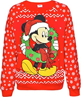 Sidecca Mickey Mouse Fair Isle Light Up Ugly Christmas Pullover Sweater Regular and Plus Size