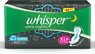 Whisper Ultra Night Sanitary Pads for Women, XL+ 30 Napkins