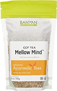 Banyan Botanicals Mellow Mind CCF Tea – Organic Brahmi Chamomile Tea – Ayurvedic Tea for Stress Relief & Sleep* – 6oz. – N...