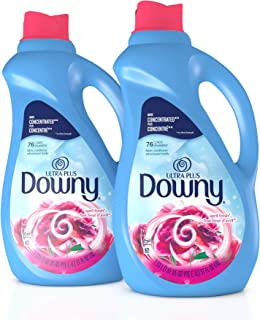 Downy Ultra Plus Liquid Fabric Conditioner (Fabric Softener), April Fresh, Concentrated, 51 oz Bottles, 2 Pack, 152 Loads ...