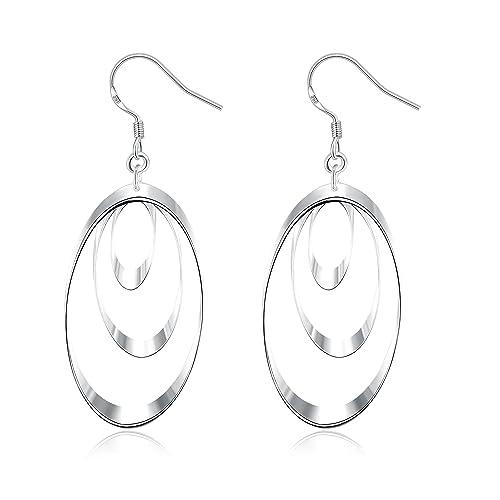 c9c91ff185b2 Earring 18K White Gold  Amazon.co.uk