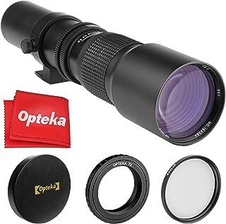 Opteka 500mm f/8 Telephoto Lens for Sony a9, a7R, a7S, a7, a6500, a6300, a6000, a5100, a5000, a3000, NEX-7, NEX-6, NEX-5T,...