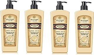 Bee & Flower Liquid Sandalwood Body Soap, Extra Large 17 fl oz x 4 bottles Value Pack of 68 ounces total