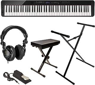 Casio Privia PX-S3000 88-Key Digital Piano (Black), Bundle w