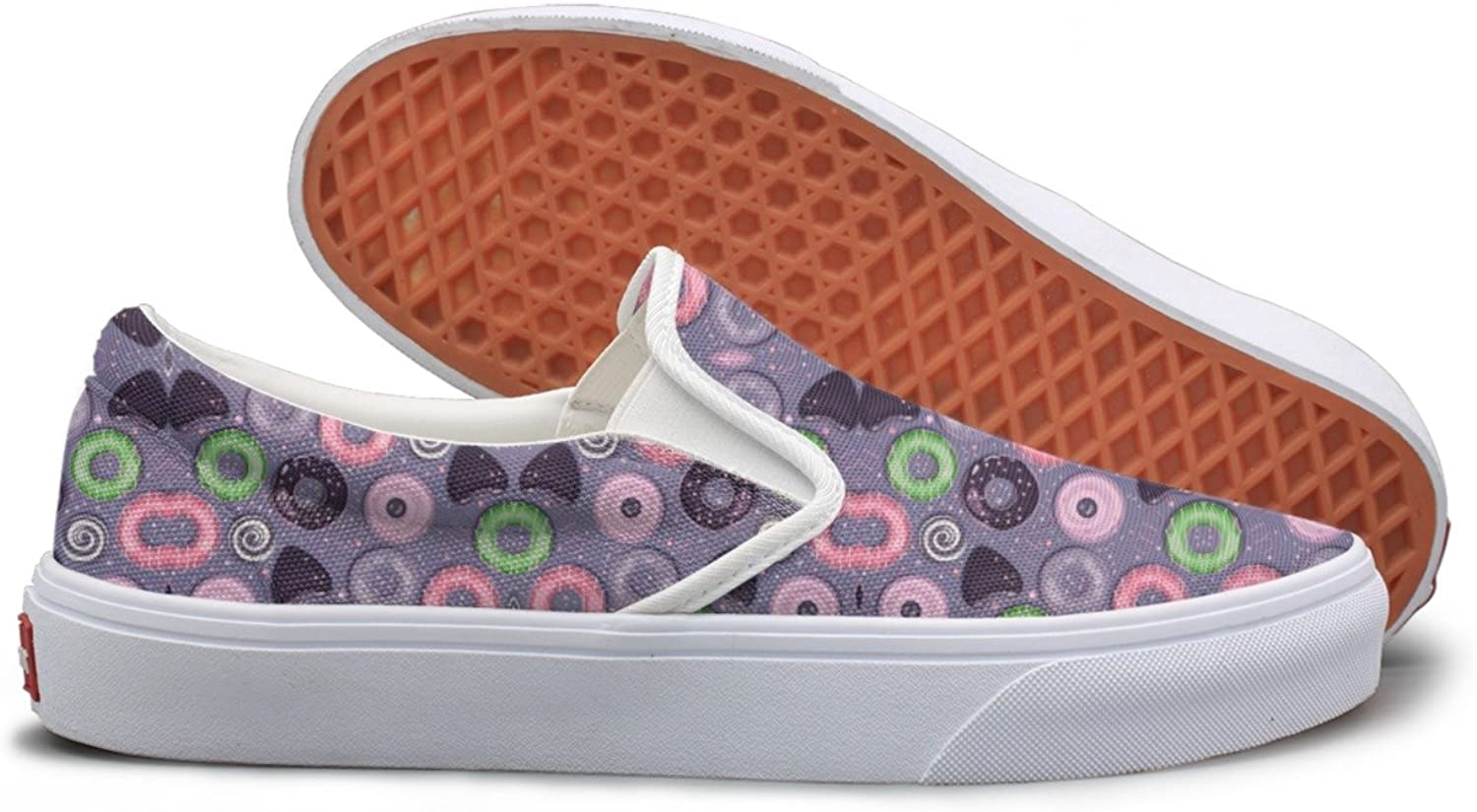 Lalige Beautiful Donut Womens Classic Canvas Slip-on Walking shoes