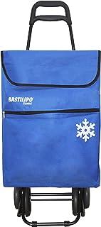 comprar comparacion Bastilipo Julia Azul Oceano Carro de la Compra 4 Ruedas Plegables oceano-Bastilipo-50 litros de Capacidad con Bolsa termic...