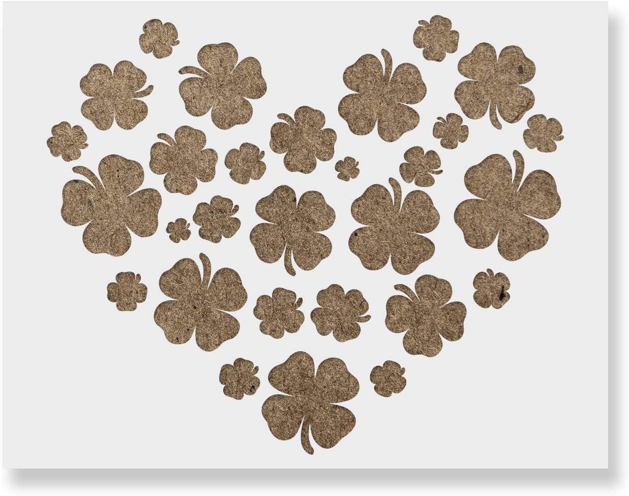 Heart Shamrocks Quality inspection Stencil Regular dealer - Reusable for Painting Creat Stencils