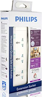 Philips 3 Way Heavy duty Indivisual Switch Socket - 4 Meter