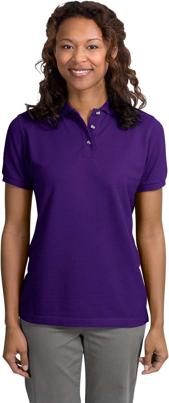 Ladies Pique Knit Sport Shirt, Color: Purple