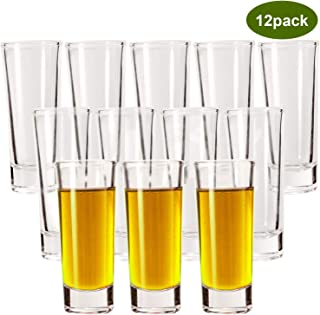 Shot Glasses, YULEER 2oz Clear Heavy Base Shot Glasses Set, Shot Glass for Spirits & Liquors