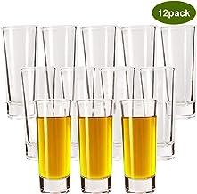 Shot Glasses, YULEER 2oz Clear Heavy Base Shot Glasses Set, Shot Glass for Spirits & Liquors