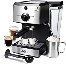 Espresso Machines 20 Bar Fast Heating Cappuccino Machine with Milk Frother for Espresso, Latte and Mocha, for Home Barista...