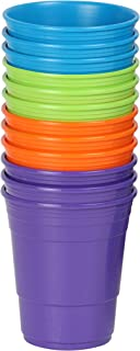 GreatCup GCP-TLOP-12AZ Teal Lime-Green Orange Purple Mix 12-Pack, 3 Teal, 3 Lime-Green, 3 Orange, 3 Purple Cups, Dishwasher-Microwave Safe, Made in USA, Picnics, Parties, Tailgates, Appetizers, Kids