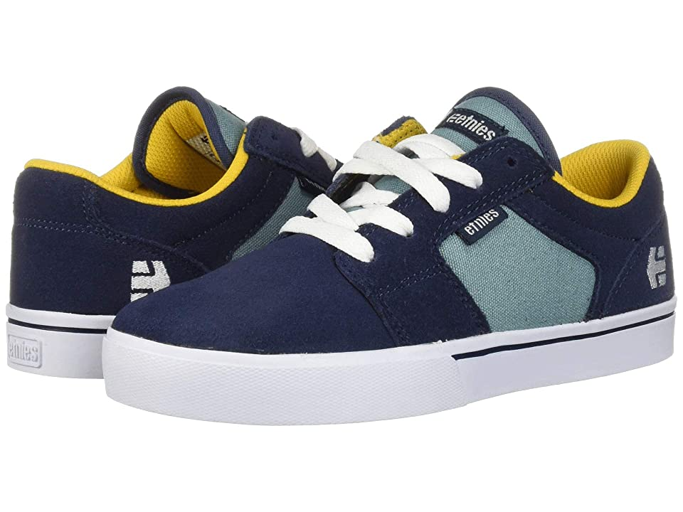 etnies Kids Barge LS (Toddler/Little Kid/Big Kid) (Navy/Blue/Gold) Boys Shoes