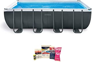 Intex Ultra 18ft x 9ft x 52in XTR Frame Pool Set w/Pump & Chemical Cleaning Kit
