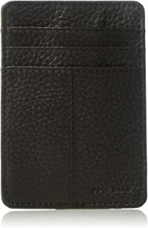 Cole Haan Women's Pebble Leather Wallet with Emb Logo, Money Clip