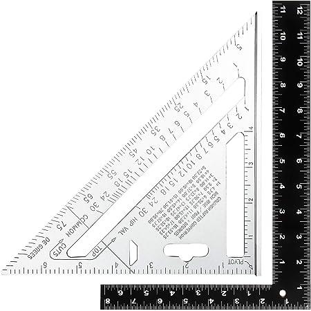 SovelyBoFan Regla de Tri/áNgulo de Carpintero Multifuncional Herramienta de Medici/óN de Carpintero Regla de Tri/áNgulo Transportador de Nivel