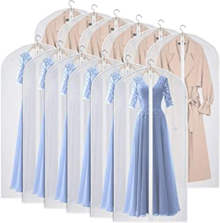 Kntiwiwo Garment Bags Dress Bag for Storage 60 inches Dust-Proof Suit Protector Cover Bag with Zipper for Long Dresses, Su...