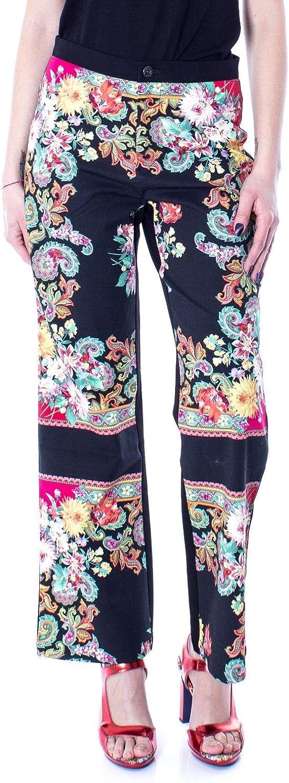 Desigual Women's 19SWPW21BLACK Black Cotton Pants