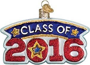 Old World Christmas Class Of 2016 Glass Ornament